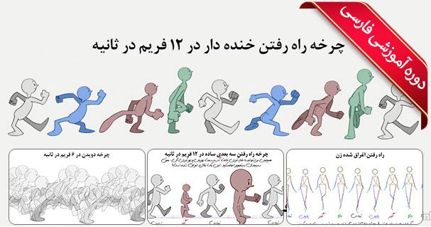 آموزش انیمیشن سازی دو بعدی - آموزش حالات کاراکتر در چرخه های راه رفتن