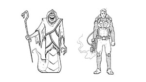 آموزش Lynda - Drawing Good and Evil Comic Book Characters