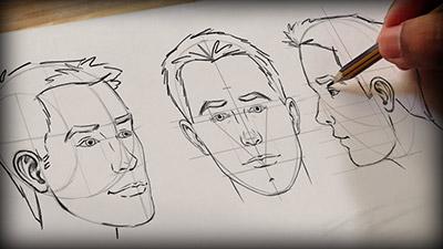 Digital Tutors – Methods for Drawing the Human Head - طراحی دیجیتالی سر و صورت انسان در فتوشاپ