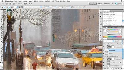 Lynda – Digital Painting Street Scene - نقاشی دیجیتالی صحنه خیابان