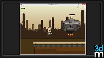 آموزش گیم میکر 3DMotive - Side-Scrolling Platformer in Game Maker Studio Vol 1-2-3-4-5