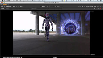 آموزش Lynda - NUKE Compositing Alien Portal