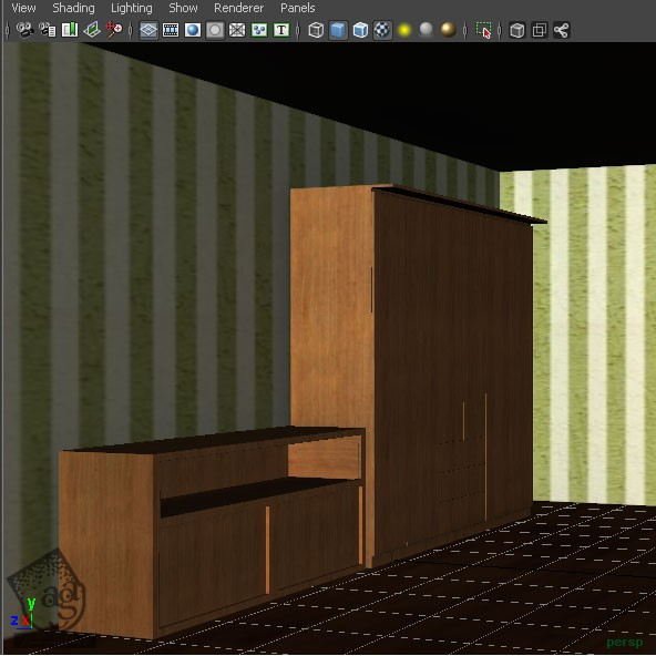 آموزش Maya : نحوه Baking Ambient, Color Map, Light Map با استفاده از Mental Ray