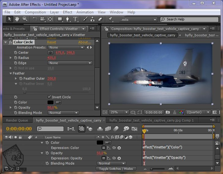 آموزش After Effects : اضافه کردن Custom Effect Vinetter