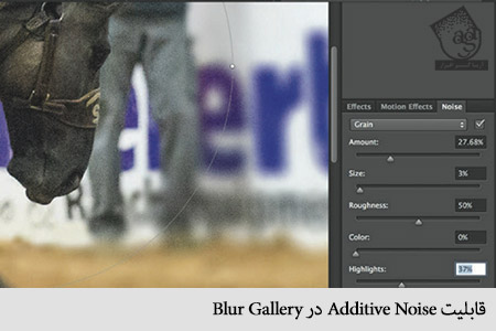 قابلیت Additive Noise در Blur Gallery