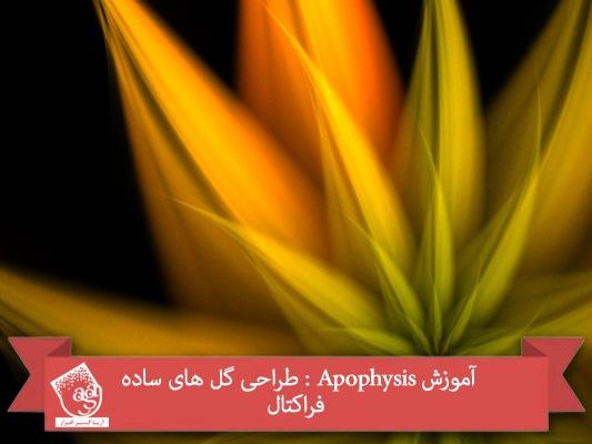 آموزش Apophysis : طراحی گل های ساده فراکتال