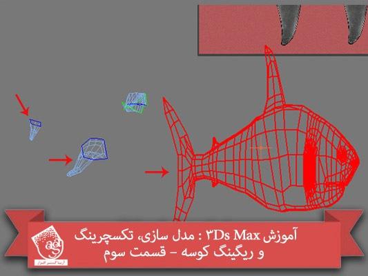 آموزش ۳Ds Max : مدل سازی، تکسچرینگ و ریگینگ کوسه – قسمت سوم