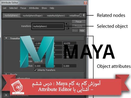 آموزش گام به گام Maya : درس ششم – آشنایی با Attribute Editor
