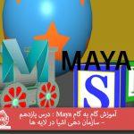 آموزش گام به گام Maya : درس یازدهم – سازمان دهی اشیا در لایه ها
