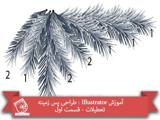 آموزش Illustrator : طراحی پس زمینه تعطیلات- قسمت اول