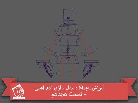 آموزش Maya : مدل سازی آدم آهنی – قسمت هجدهم