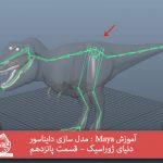 آموزش Maya : مدل سازی دایناسور دنیای ژوراسیک – قسمت پانزدهم